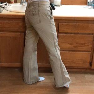 boot cut cream pants